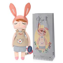 novas bonecas metoo Desconto Nova chegada Genuine Metoo Angela Rabbit Dolls Bunny Baby Plush Toy Brinquedos Bonitos Encantadores Recheados Crianças Meninas Aniversário / Prenda de Natal