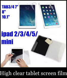 Wholesale Ipad Touch Screen Protector - high clear Screen Protector Guard Cover Film Shield for iPad Mini ipad air ipad 2 3 4 5 tab3 4 lenovo tablet film for touch screen SSC003