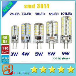 Wholesale Chandeliers Bulb 5w - G4 12V 110-220V LED Corn Lamp 3W 4W 5W 6W 9W LED Light 3014 Corn Bulb Silicone Lamps Crystal Chandelier Home Decoration Light