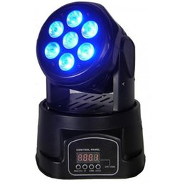Wholesale Mini Led Color Changing Light - Hot Sell 80 watt 4 in 1 LED Mini Moving Head Wash Light with 7pcs 10 watt LED Stage Light for DJ and Show