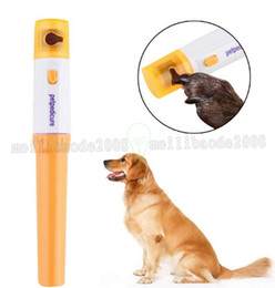 Wholesale Nail Trimmer For Cats - Free Shipping Pet nail Grinder Automatic File Electric Pet Dog Puppy Grooming Trimmer Clipper FOR dog or cat MYY