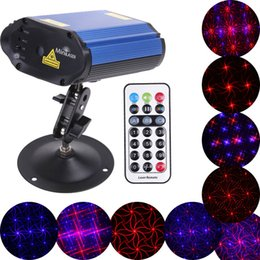 Wholesale 12v Led Mini Strobe Light - Voice-control Laser Stage Lighting 3.5W Led Stagelight Club Disco Party Light Mini Projector Colorful AC 100V-240V To DC 12V order<$18no tra
