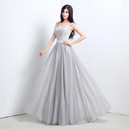 2015 серый кружева длинные платья Bridemaid линии длиной до пола платья из бисера милая элегантный фрейлина платье высокого качества от