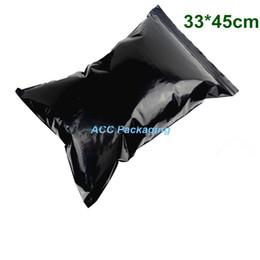 Wholesale Black Ziplock Bags - Wholesale 100Pcs Lot 33*45cm Lightproof Solid Black Zip Lock Bag Plastic Grip Seal Zipper Ziplock Storage Bag Pouch Packaging