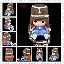 Wholesale Crochet Baby Hat Football - Free Shipping Christmas Soccer Football Crochet Knitted Hat Newborn Headwear Infant Toddler Cap Baby Boys Girls Hat Children Beanie Cotton