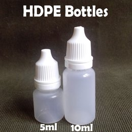 Wholesale Hdpe Bottles - 500Pcs lot 5ml 10ml HDPE Clear Eyedrop Dropper Bottle 5ml 10ml Empty Dropper Bottle with Tamper Evident Caps