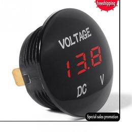 Wholesale Voltmeters For Motorcycles - Universal Voltmeter Waterproof Voltage Meter Digital Volt Meter Gauge Red LED for DC 12V-24V Car Motorcycle Auto Truck