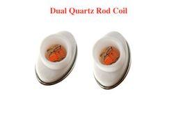 Wholesale Micro G Wax - Full ceramic dual quartz coil for micro g dry herbal vaporizers pen Wax elip atomizer e cigarette g pro vaporizer pen Coils