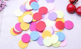Wholesale Diy Felt Fabric - 1000pieces  lot 30mm mix color Padded Felt round shape craft  DIY Appliques Clothing decoration Scrapbook Non-woven fabric patch