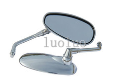 Wholesale Shadow Ace - Chrome Motorcycle Rear View Side Oval Mirrors for 2000 Honda Shadow ACE 750 VT750CD Deluxe