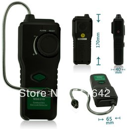 Wholesale Natural Gas Detectors - MASTECH MS6310 Portable Combustible Gas Leak Detector Tester Meter Propane Natural Gas Analyzer With Sound Light Alarm