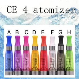 Wholesale Ego T Cartomizer - CE4 Clearomizer Atomizer Cartomizer CE4 ce5 ce6 Tank clear 1.6ml Vaporizer For Electronic Cigarette eGo T ,EGO k Battery (0203190)
