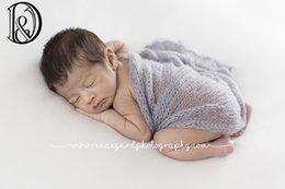 Wholesale Wholesale Mohair Wraps - (60*40cm) Acrylic Mohair Wraps 10 pcs One Lot Mix Color Newborn Photography Wraps Baby Shower Gift Newborn Props