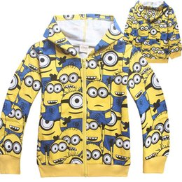 Wholesale Despicable Clothes For Children - 2015 new Despicable Me Minion coats for children Clothes Autumn Spring CAutumn Spring Coat boys hoodie jackets Kids cartoon baby outerwear