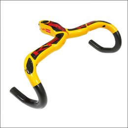 Wholesale Carbon Bicycle Handlebar Stem Integrative - Hot KAIFENG full carbon bicycle Handlebar carbon road handlebar and Stem integrative bar belt 420 440*90 100 110  Bicycle Parts Yellow KF-10