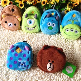 Wholesale Great Universities - Wholesale-Large seed Sullivan monster university third seed accessories plush backpack backpack and zero wallet great dragon cat
