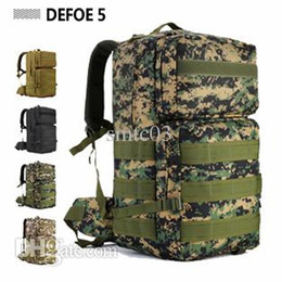 Wholesale Tactical Backpacks For Men - Wholesale-55L Outdoor Sports Bag Military Tactical Large Backpack Rucksacks For Explorer Hiking Camping Trekking Gym bags