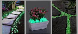 Cascalho decorativo on-line-Frete Grátis + Atacado Cascalho Decorativo Para O Seu Jardim ou Quintal Brilhante Pedras Fluorescentes Pedras para Passarela, 4000 pçs / lote