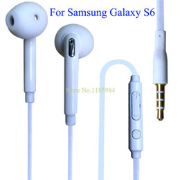 samsung s6 высококачественные наушники Скидка Wholesale-2015 Hot High Quality Stereo Headset In Ear Earphones Headphones With Mic 3.5mm Headsets  For  Galaxy S6 G9200 1B