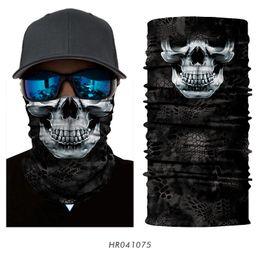 Wholesale Red Bandana Headband - Wholesale- Magic 3D Seamless Horror Ghost Death Skull Neck Face Mask Head Scarf Bicycle Bandana Headband Halloween Snowboard Party Hat