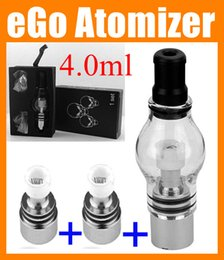 Wholesale Clearomizer Set - Wax Dry Herb Glass Globe atomizer tank with retail Box Set dry herb Vaporizer Clearomizer for 510 eGo T battery Electronic Cigarette ATB004