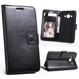 Wholesale Retro Cell Phone Covers - For Galaxy J5 2015 2016 J510 Retro Leather Wallet Cell Phone Case Cover Black With Card Slot Filp Stand Photo Frame for Samsung J500F