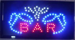 Fichas abiertas online-Alto Visible Brillante Big Chip Bar Abierto Led Mover Intermitente Letrero animado Colores Neon Business Motion Light Sign On Off Interruptor Botón Cadena