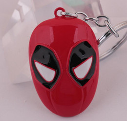 Wholesale Marvel Cartoon Characters - NEW Hot Cartoon Game movie Key Car keychian Marvel Deadpool Alloy keychain wedding favors keychain cc125