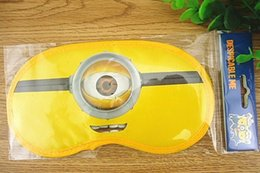 Wholesale Despicable Sleep - despicable me 2 minion baby eyeshade sleeping eye mask cover cute blindfold for health care yellow eye sleeping mask free shipping in stock