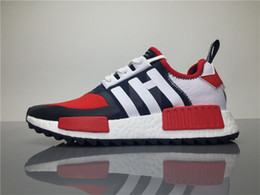 Wholesale Popular Boots - White Mountaineering WM x NMD Trail PK Red BA7519 Black BA7518 Running Shoes for Men Popular Sports Shoes Outdoor Streetwear