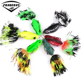 """Señuelos 6cm online-1pc rana señuelos cebo de pesca de alta calidad 6 colores señuelos de pesca 6cm-2.36 """"/0.46oz-13.18g aparejos de pesca cebo duro"""