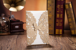 Wholesale Laser Cut Wedding Invitations Cheap - Wedding Invitations Laser Cut Customised Invitation Cards Wedding Card Free Fold Gift Cards Cheap Print Invitation Card New Arrival 2015