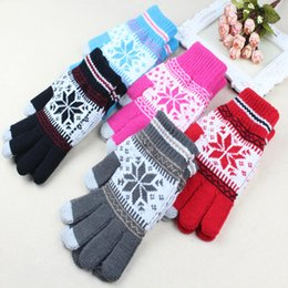 Wholesale Wholesale Wool Gloves For Women - Winter Unisex Men Women Screen Touch Gloves Warm Knit Glove for iPhone for Samsung Smart Phone Tablet Pad DHL Free Shipping