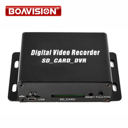 Wholesale Home Digital Video Recorder - 1 Channel CCTV Mini DVR Digital Video Recorder SD Card Motion Detection Audio Recording For Mobile Bus Car Home Security Use