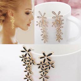 Wholesale Cheap Black Crystal Chandelier - Frozen Snowflake earrings for christmas oorbellen flower earrings boucle d'oreille bijoux femme orecchini donna cheap fashion jewelry