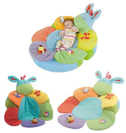 Wholesale Nesting Sofa - Promotion ELC Blossom Farm Sit Me Up Cosy-Baby Seat Play MatPlay Nest Sofa Infant Bed .Inflatable baby game pad carpet green donkeys.1pcs GE
