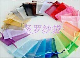 2019 оптовый стойку Wholesale-400pcs 14 colors for choose Wedding Gift  Organza Wedding Favor Xmas Gift Bags Jewellery Pouches 7x9cm 120402-120413
