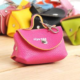 Wholesale Purse Ornaments - Wholesale - Free Shipping Fashion Colorful Women PU Leather Coin Purse Mini Key Bag Ornaments Charm Mix