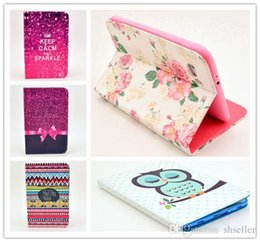 Wholesale Cute Cases For Galaxy Tablets - Cases For Samsung Galaxy Tab 2 7.0 Inch Flip PU Leather Stand Case P3100 P3110 Cute Flower Lovely Tablet PC Cover Free Shipping A5