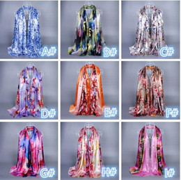 Wholesale Long Spring Scarf For Women - Hgih Quality Silk Floral Pattern Scarf For Women Lady Spring Autumn Long Size Wrap Airbrushed Scarves ZS35