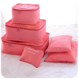 Wholesale Clothing Waterproof Woman - New 6pcs set Women Men Travel Storage Bag Waterproof High Capacity Luggage Clothes Tidy Storage Pouch Portable Organizer Case