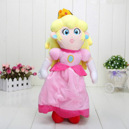 "Wholesale Mario Plush For Free - 2016 Hot Sales Brand Free Shipping New Super Mario Bros Plush Doll - Princess Peach 14"" For Children Good Gift"