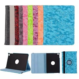 Wholesale Ipad Mini Rotating - 360 Degree Rotating Grape Grain Pattern PU Leather Case For iPad Mini Luxury Smart Cover Stand Flip cases for iPad 2 3 4