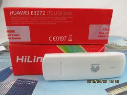 Wholesale Huawei Usb Sticks - Wholesale- Unlocked Huawei E3272S-210 Cat4 4G LTE 150Mbps USB Stick Dongle Moible Broadband
