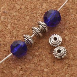 Mic rondas de prata on-line-Rodada Engrenagem Disc Beads Spacers 1000 pçs / lote MIC 4.8x4.8mm Prata Tibetano Espaçador Resultados Da Jóia Componentes