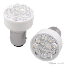 Wholesale Led Turn Brake Lights - 2 x 1157 1076 12 LED Turn Signal Stop Light Bulb Lamp 12V White Brake Light
