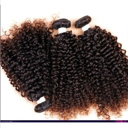 Wholesale Hair Curl Textures - Black woman virgin brazilian hair extensions kinky curl natural color 100%human hair weft can be dyed free shipping