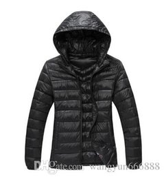 Wholesale Ladies Feather Down Jackets - 2016 Winter New Brand Fashion Women Spring Autumn Hooded Down Jacket Coat Outdoor Waterproof Keep Warm Lady Outerwear Winter Coat Christmas