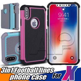 Wholesale Matte Hybrid Rubber Case - For Iphone X 10 7 Samsung Galaxy S8 Plus Hybrid Case Rugged Impact Rubber Matte Shockproof Heavy Hard Cases