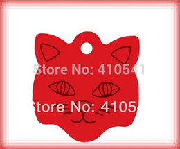 Wholesale Product Names - Free shipping pet tag 23*23mm Cat Face Shaped Dog name Tags Aluminum Alloy Pet Products Dog ID Tags puppy dog cat id tags